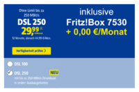 1&1 DSL 250 mit kostenloser FritzBox 7530