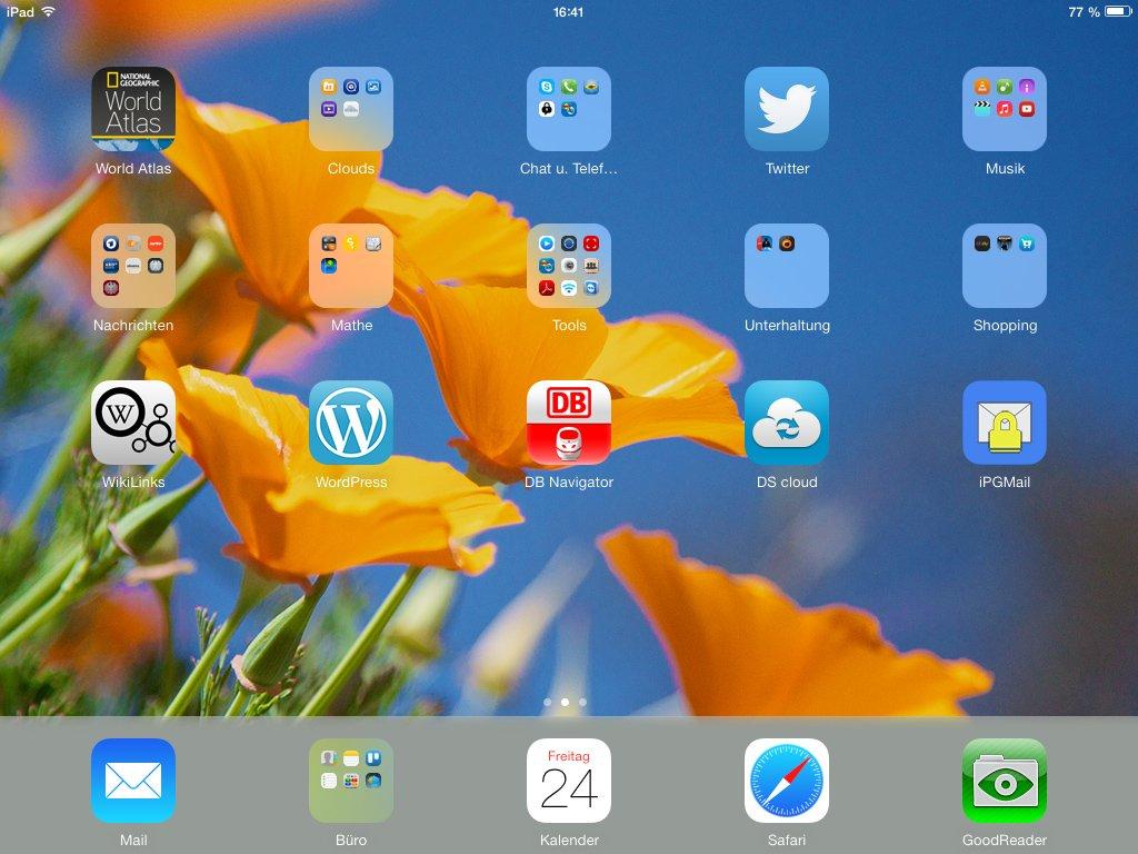 Appicons auf einem iPad