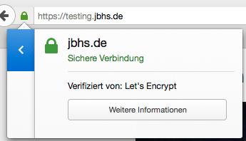 Let's Encrypt Beispiel Zertifikat