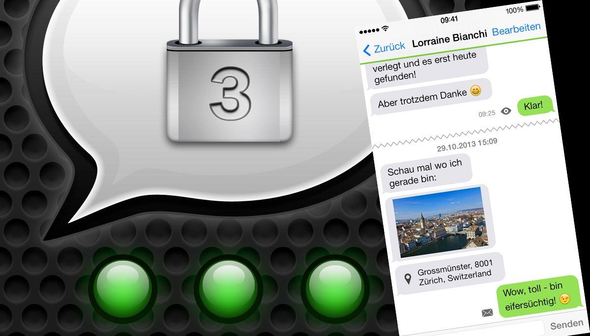 Threema Icon im Hintergrund mit Screenshot